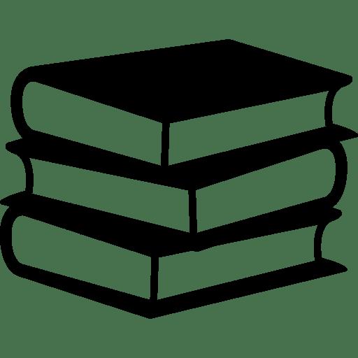 Une icône représentant des livres emplilés.
